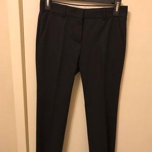 Theory Dark Grey Wool Cropped Dress Pants
